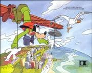 Gambia 1992  Disney/ Goofy/ Buildings/ Cartoons/ Animation/ StampEx, Chicago   1v m/s (b6502a)