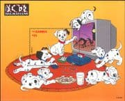 Gambia 1997 Disney/ 101 Dalmations/ Dogs/ Films/ Cartoons/ Animation 1v m/s (ad1103)