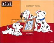 Gambia 1997 Disney/ 101 Dalmations/ Dogs/ Films/ Cartoons/ Animation 1v m/s (ad1123)