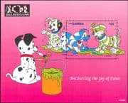 Gambia 1997 Disney/ 101 Dalmations/ Dogs/ Films/ Cartoons/ Animation 1v m/s (ad1127)