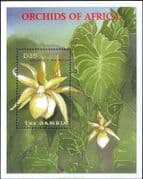 Gambia 2001  Orchids/ Flowers/ Plants/ Nature/ Horticulture 1v m/s (b9396a)