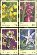 Gambia 2001 Orchids  /  Flowers  /  Plants  /  Nature  /  Horticulture 4v set (b9396)