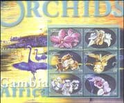 Gambia 2001  Orchids/ Flowers/ Plants/ Nature/ Orchid/ Horticulture  6v m/s  (s4234)