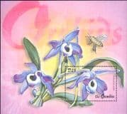 Gambia 2001 Orchids/ Insects/ Flowers/ Plants/ Nature/ Orchid/ Bees 1v m/s (s5712)