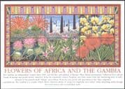 Gambia 2002 Flowers of Africa/ Plants/ Nature/ Horticulture 6v m/s (42794)