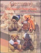 Gambia 2002 Teddy Bears/ 100th Anniversary/ Toys/ Teddies/ Beer/ Hats/ Costumes  4v m/s (s2376)