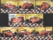Gambia 2003 Ferrari/ Sports Cars/ Motoring/ Motor Racing/ F1/ Grand Prix/ Transport 8v set (s5044g)
