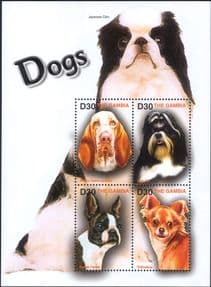 Gambia 2004  Chihuahua/ Terrier/ Shih Tzu/ Dogs/ Pets/ Working Animals/ Nature  4v m/s  (b674h)