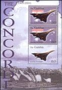 Gambia 2004  Last Flight of Concorde/ Aircraft/ Planes/ Aviation/ Transport/ Flag 3v m/s (n11220)