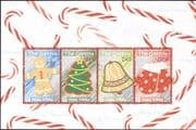 Gambia 2006 Christmas/ Greetings/ Tree/ Bell/ Gingerbread/ Gloves 4v m/s (n26421)