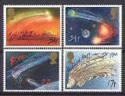 GB 1986 Halley's Comet  /  Space  /  Astronomy 4v set (n27086)