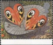 GB 1991 Greetings/ Good Luck/ Butterflies/ Hearts/ Insects/ Nature/ Fortune 1v (n30824k)