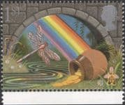 GB 1991 Greetings/ Good Luck/ Rainbow/ Pot of Gold/ Dragonfly/ Orchid/ Fortune/ Insects 1v (n30824f)