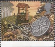 GB 1991 Greetings/ Good Luck/ Wishing Well/ Pin/ Lucky Sixpence/ Coins/ Money/ Fortune 1v (n30824h)