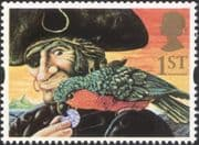 GB 1993 Greetings/ Parrot/ Birds/ Pirate/ Books/ Cartoons/ Animation 1v (n30824)