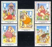 GB 1994 Postcards  /  Holiday  /  Puppets  /  Animation 5v (n30813)