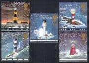 GB 1998 Lighthouses  /  Maritime Safety  /  Transport  /  Buildings  /  Architecture 5v (n33561)