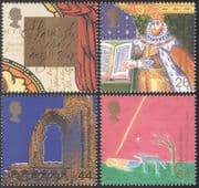 GB 1999 Millennium/ Bible/ Carol/ Christmas/ Cathedral/ Nativity/ Music 4v set (n29734)