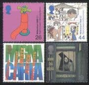 GB 1999 Millennium/ Votes/ Voting/ Water/ Health/ Education/ Magna Carta/ Human Rights 4v set (n27261)