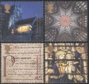 GB 2000 Millennium/ Church/ Madonna/ Stained Glass/ Art/ Music/ Drama/ Buildings/ Architecture/ Design 4v set (n29735)