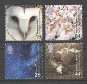 GB 2000 Millennium/ Owl/ Gulls/ Space/ Mill/ River/ Waterfall/ Birds/ Nature/ Buildings 4v set (n21488)