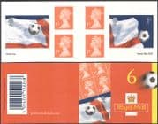 GB 2002 Football World Cup/ Soccer/ Sport/ WC/ Flags 6v s/a bklt PM6 (b8543)