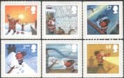 GB 2004 Father Christmas/ Greetings/ Santa Claus/ Reindeer/ Animation 6v set s/a (n43517)