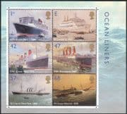 GB 2004 Ocean Liners/ Ships/ Transport/ Sailing/ Maritime History 6v m/s (n43283)