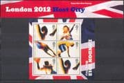 GB 2005 LONDON Host City 2012 Olympics/ Sports/ Basketball/ Athletics/ Athletes 6v m/s Pres Pack (n43218)
