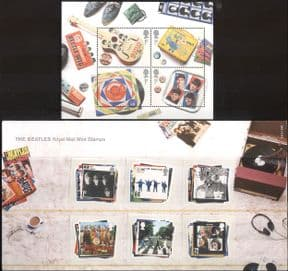 GB 2006 Beatles/ Music/ Musicians/ Entertainment/ People/ Personalities 6v set + 4v m/s Presentation Pack (n43515)