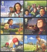GB 2007 Europa/ Scouting 100th/ Scouts/ Planes/ Archery/ Trees/ Camp/ Sports 6v set (n28693c)