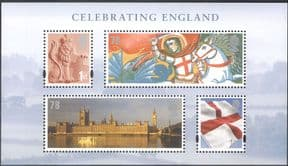 GB 2007 Houses of Parliament/ Big Ben/ St George/ Lion/ National Flag/ Buildings/ Clock Tower/ Architecture 4v m/s (n43530)