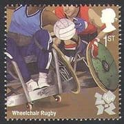 GB 2011 Sports  /  Olympics  /  Olympic Games  /  Wheelchair Rugby  /  Disabled 1v (b7812j)