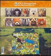 GB 2011 WWF/ Bear/ Tiger/ Elephant/ Animals/ Nature/ Wildlife 10v + m/s  Pres Pack (n30304)