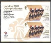 GB 2012 Olympics  /  Sport  /  Gold Medal Winners  /  Men's Pursuit  /  Cycling 2v + lbl n35459a