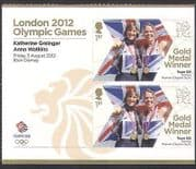 GB 2012 Olympics  /  Sport  /  Gold Medal Winners  /  Rowing  /  Women's Sculls 2v + lbl n35466a