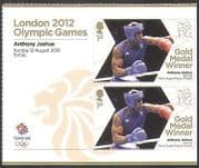 GB 2012 Olympics  /  Sports  /  Gold Medal Winners  /  Boxing  /  Anthony Joshua 2v +  (n35665a)