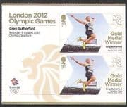 GB 2012 Olympics  /  Sports  /  Gold Medal Winners  /  G Rutherford 2v s  /  a + lbl (n35456a)