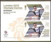 GB 2012 Olympics  /  Sports  /  Gold Medal Winners  /  Kayak  /  Ed McKeever 2v + lbl (n35666a)