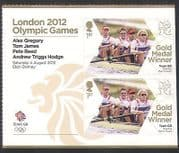 GB 2012 Olympics  /  Sports  /  Gold Medal Winners  /  Rowing  /  Men's Fours 2v + lbl (n35463a)