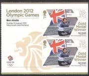 GB 2012 Olympics  /  Sports  /  Gold Medal Winners  /  Sailing  /  Ben Ainslie 2v + lbl  n35653a