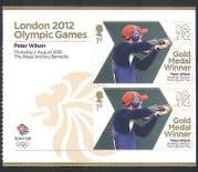 GB 2012 Olympics  /  Sports  /  Gold Medal Winners  /  Shooting  /  P Wilson 2v + lbl (n35467a)