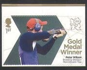 GB 2012 Olympics  /  Sports  /  Gold Medal Winners  /  Shooting  /  Shotgun  /  P Wilson 1v (n35467)