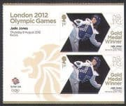 GB 2012 Olympics  /  Sports  /  Gold Medal Winners  /  Taekwondo  /  Jade Jones 2v + lbl n35660a