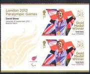 GB 2012 Paralympics/ Olympics/ Sports/ Cycling/ Gold Medal Winners/ David Stone 2v + lbl (n36330)