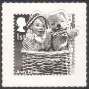 GB 2014 Andy Pandy  /  Teddy Bear  /  Children's TV  /  Television  /  Puppets 1v s  /  a (b7387a)