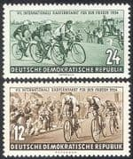 Germany 1954 Cycling  /  Bikes  /  Sports  /  Racing  /  Bicycles  /  Transport 2v set (n33553)