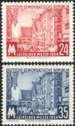 Germany 1954 Leipzig Fair/ Buildings/ Architecture/ Business/ Commerce 2v set (n44583)