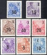 Germany 1954 Workers/ Ship Building/ Iron Works/ Industry/ Palace/ Buildings/ People/ Commerce/ Industry/ Surcharge 8v set (n44394)