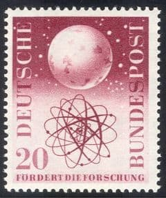 Germany 1955 Cosmic Research/ Science/ Physics/ Space/ Earth/ Atom 1v (n43346)